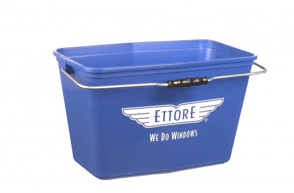 ETTORE - blauer Rechteck-Eimer 15 Liter